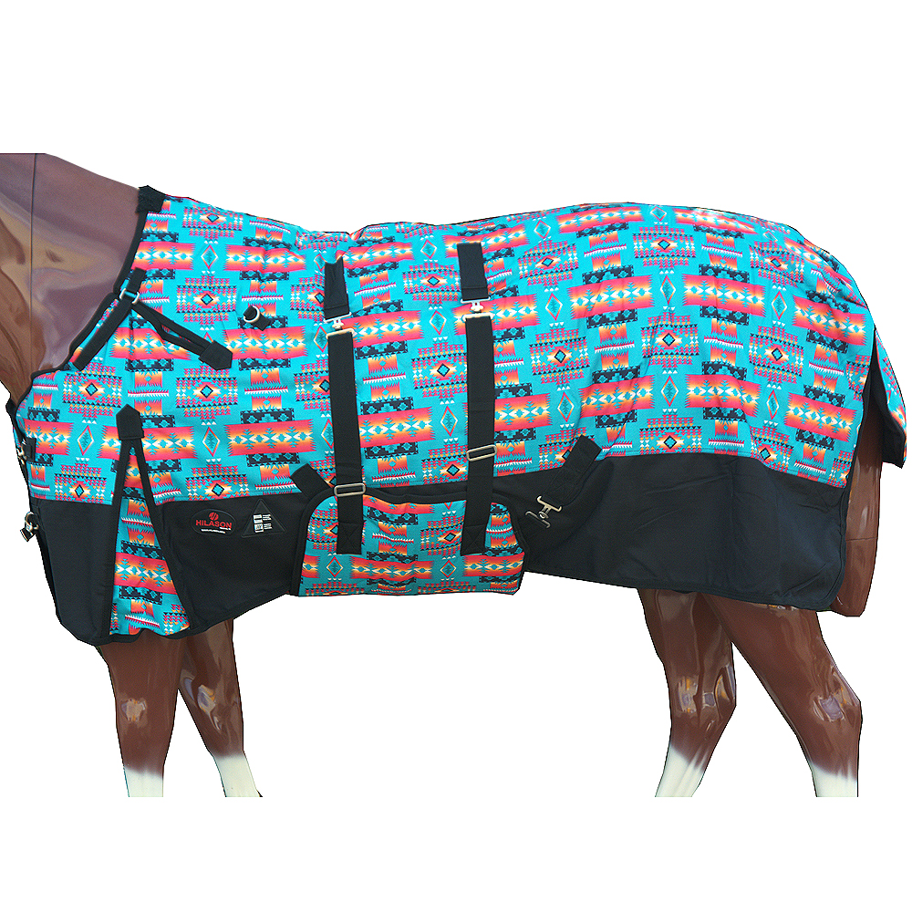"""C-L-78 78/"""" Hilason 1200D Poly Turnout Horse Winter Neck Cover Belly Wrap Blanket"""