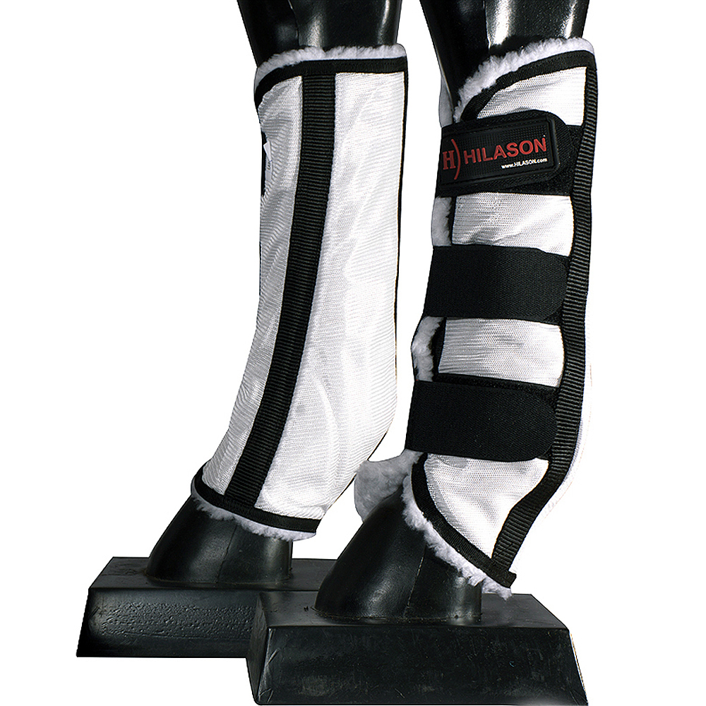 Hilason Uv Protection Arab Horse Size Insects Fly Boots Grey Black U-01-W