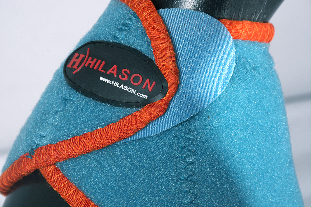 L M S Hilason Western Horse Leg Protection No Turn Bell Boots Turquoise U-//ORG