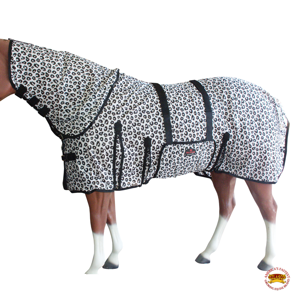 Horse Fly Sheet Uv Protect Mesh Bug Mosquito Summer Leopard Print U-S110