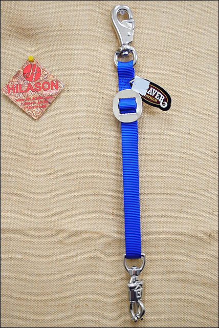 """ROYAL BLUE BRAIDED ROPE HORSE TRAILER TIE 32/"""" NEW HORSE TACK EQUINE"""