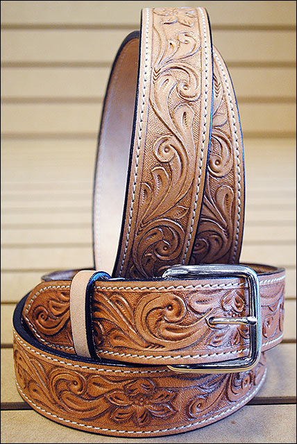 Western Tough Working Leather Men S Work Hand Carved Made