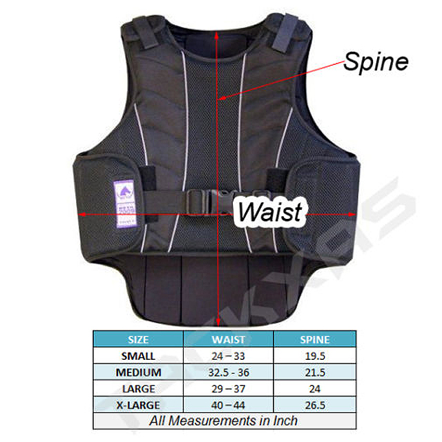 Comfortable Protective Horse Riding Training Safety Vest for Adult//Kids Vest  UK