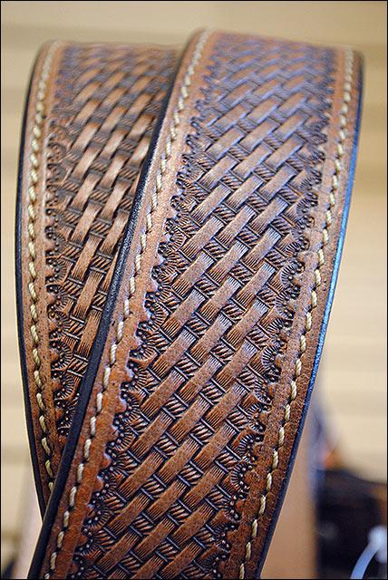 Hilason Handmade Heavy Duty Western Work Leather Mens Gun