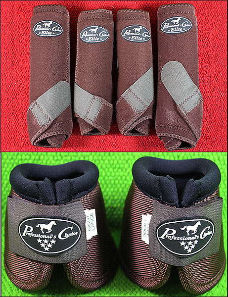 CHOCOLATE MED PROFESSIONAL CHOICE SPORTS MEDICINE HORSE BOOTS BELL VENTECH ELITE