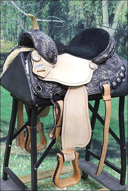 Hilason Flex-Tree Negro barril Racing Sendero Negro Flex-Tree silla caballo occidental 060ff4