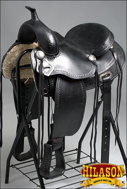 Hilason silla caballo negro sin árboles Western Trail Negro Negro Trail 0fb0e0