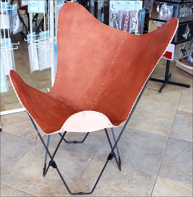 Cb34f Leather Butterfly Chair Folding Lounge Modern Sling