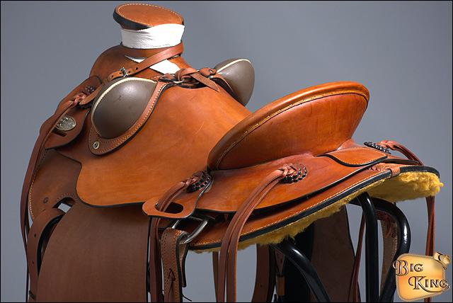 Hilason Big King Western Caballo Wade Rancho amarrar Vaquero Caballo Western Silla Beige f69e05