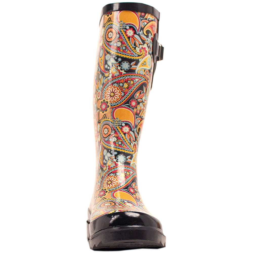 U-8-VX M&F M&F M&F Western para mujer multicourojo pierna Punta rojoonda botas de lluvia diseño Paisley 4495e7