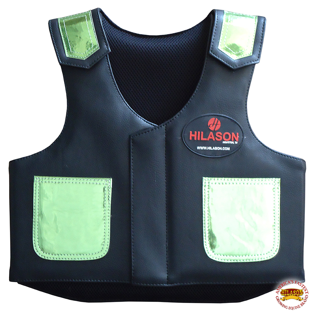 C-866Y Hilason Kids Junior Youth Bull Riding Pro Rodeo Leather Vest Chaps