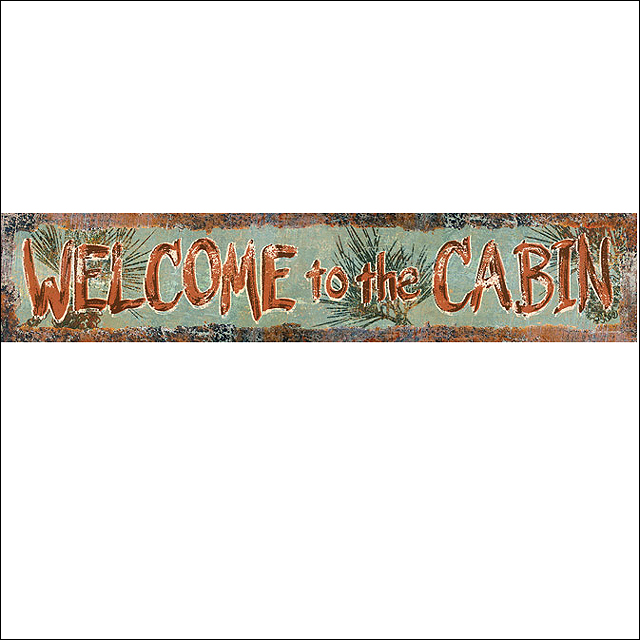 Details About U 2312 19 3x3 5 Rivers Edge Home Decor Heavy Metal Steel Welcome Cabin Durable T
