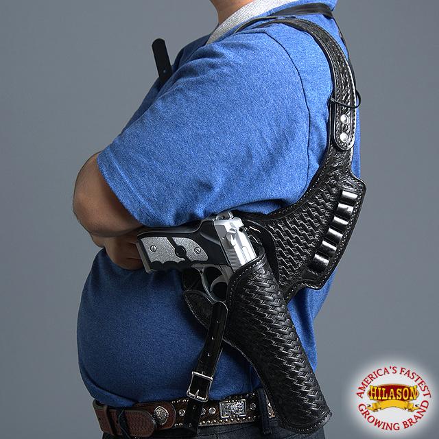 U - - - - VX U-HILASON T Western Cowboy aparejo de hombro de cuero Funda Pistola Calibre 44 45 B 4dc55e