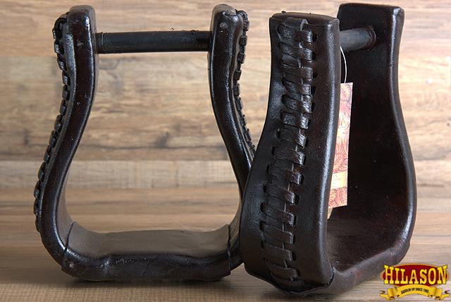 C-T103 Hilason Western Saddle Bell Oil Leather Horse Saddle Stirrups Neck 3 In