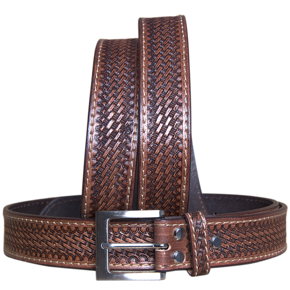 U-T-MX Hilason Hand Made Buffalo Hide Leather Stitched Gun Holster Belt