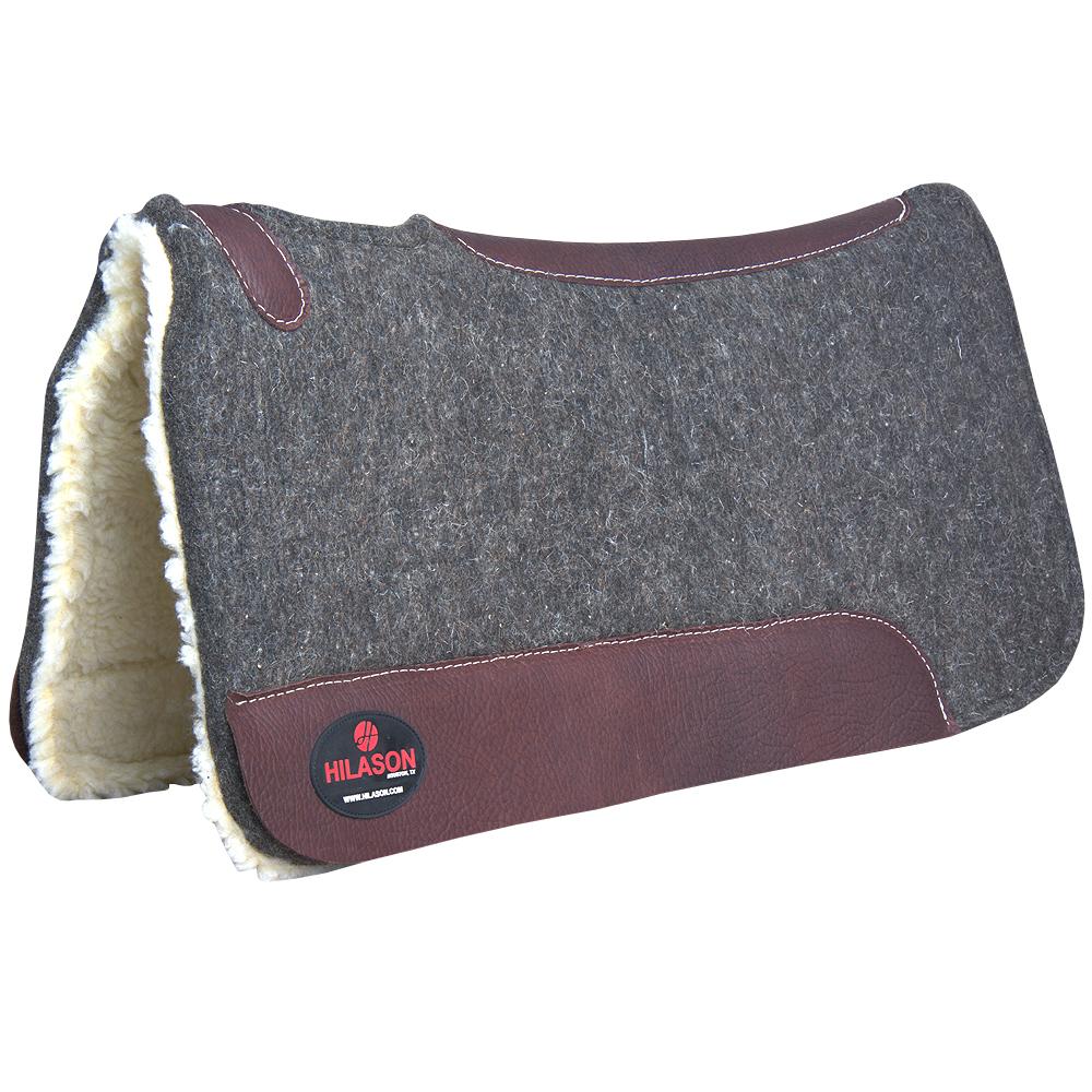 Made In Usa Hilason 100/% Wool Felt Synthetic Fur Western Horse Saddle Pad U-3232