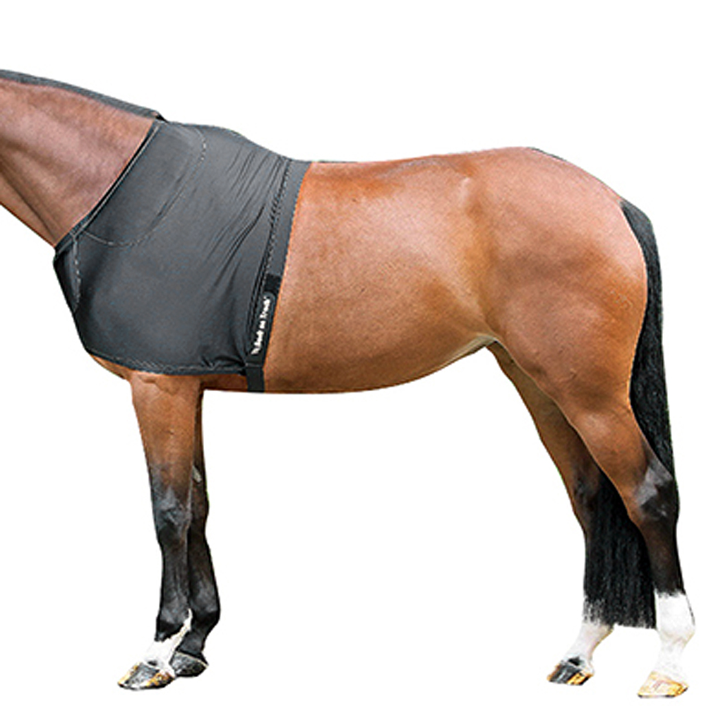 """78/"""" Back On Track Horse Pain Relief Therapeutic Equine Shoulder Guard Black U--0"""