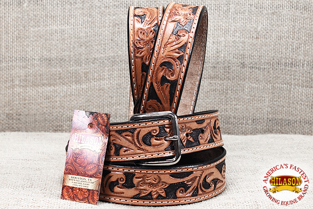 "U-T203 30/""-60/"" Hilason Handmade Concealed Carry Leather Stitch Gun Holster Belt"