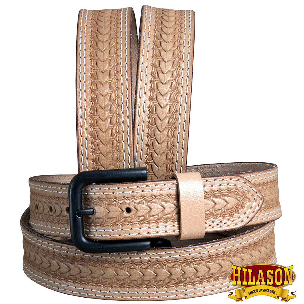 U-T-MX Hilason Hand Made Buffalo Hide Leather Stitched Gun Holster Belt
