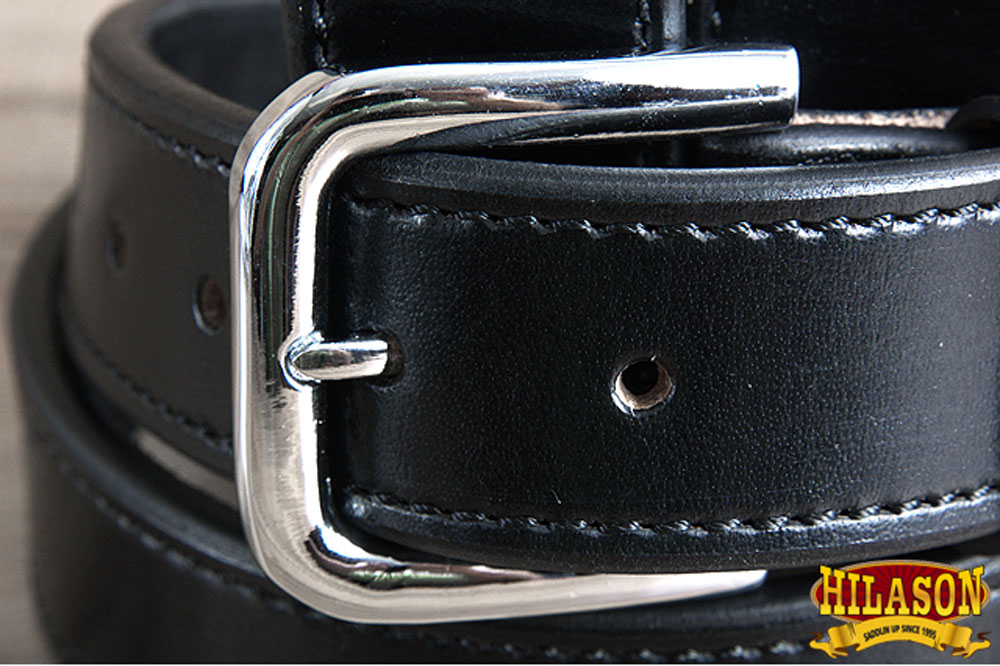 HEAVY DUTY DOUBLE LAYER STITCHED LEATHER CONCEALED CARRY GUN HOLSTER BELT