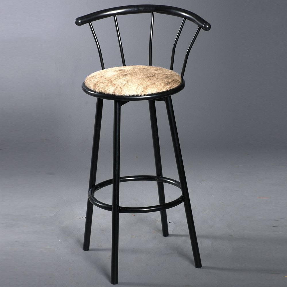 Astonishing Details About U 00Bk Western Genuine Leather Cowhide Hair On Bar Stool Black Gmtry Best Dining Table And Chair Ideas Images Gmtryco