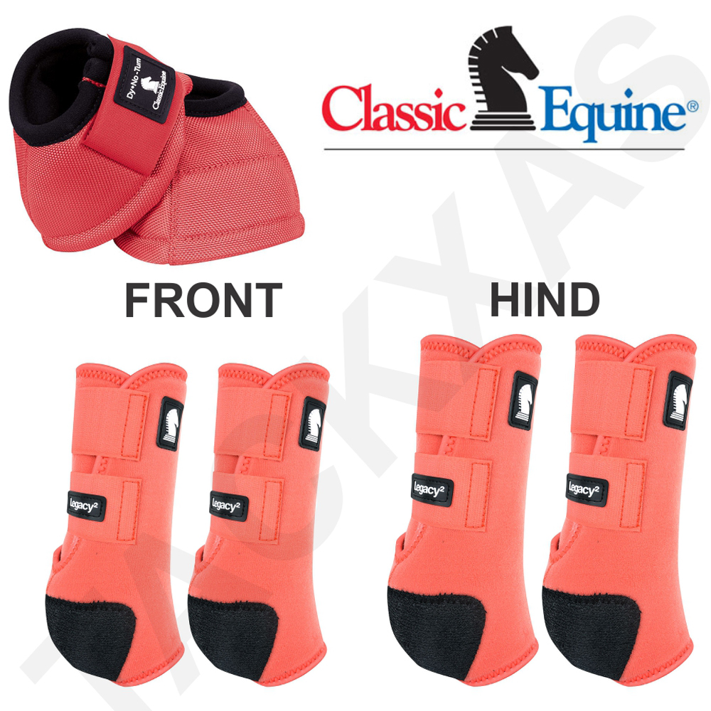 C-RD-S Petit Classic Equine Léger cheval Legacy 2 Front Hind Bell Sport bottes