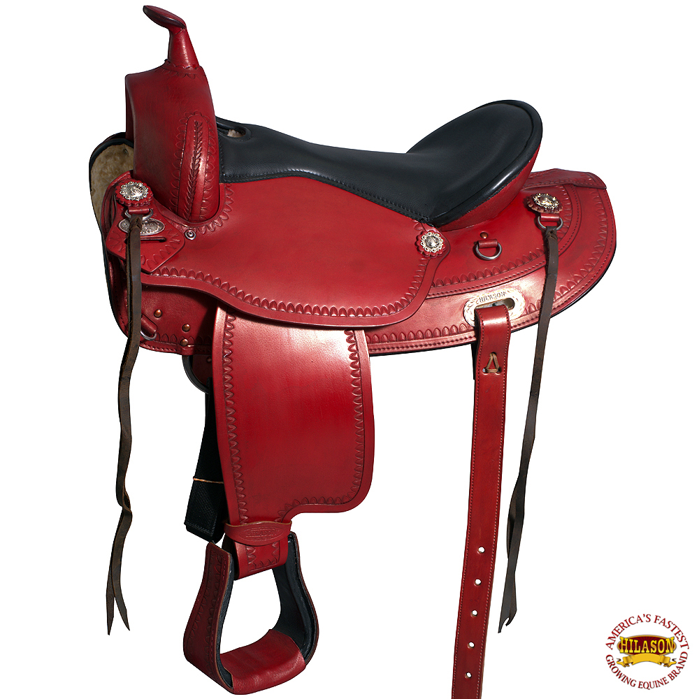 UM15 15 HILASON WESTERN DRAFT HORSE SADDLE WIDE GULLET TRAIL PLEASURE ENDURAN