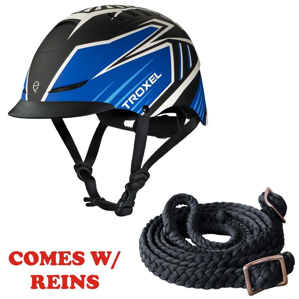 U-04-L Lrg Troxel Dialfit Low Profile Matte Horse Riding Helmet bluee Raptor W  R