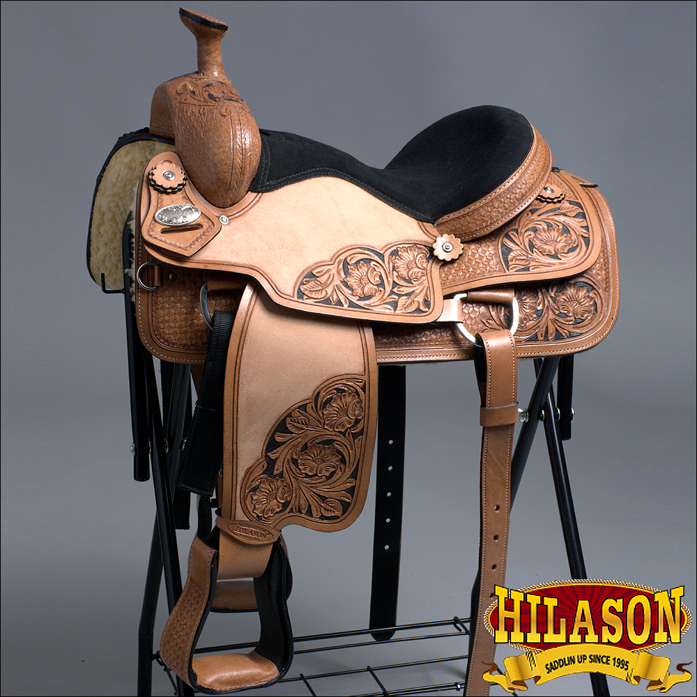 C015 Cos100 Hilason Western Ranch Cowboy Horse Roping Saddle 15