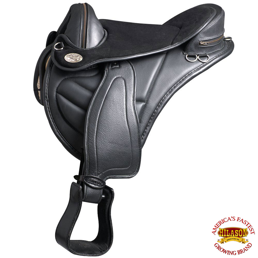 C016 16 Hilason English Treeless Horse Saddle Endurance Trail Pleasure Leather