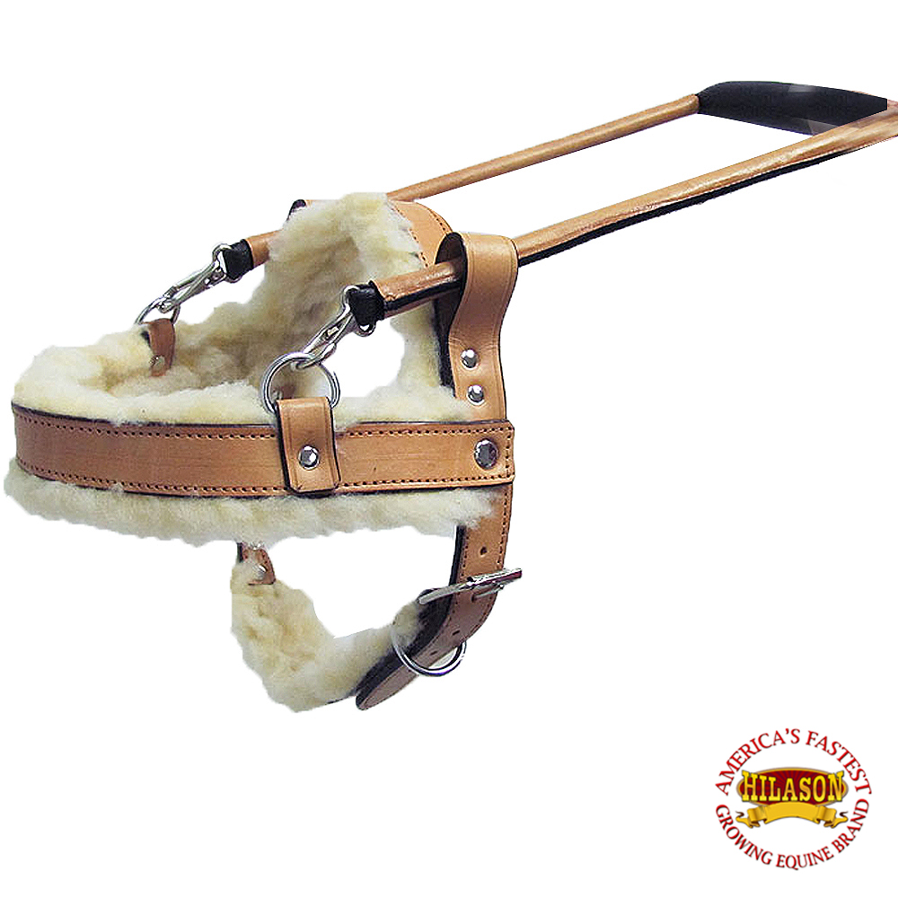 C1XL Hilason Tan Genuine Leather X Large Assistance Dog Harness With Handle