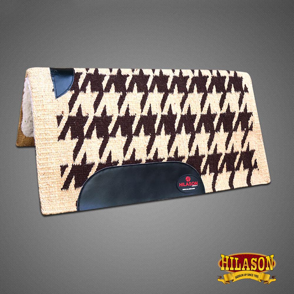 C  pelliccia fatto in USA Hilason Western Coperta di lana feltro Sella Pad Tan Marronee Scuro
