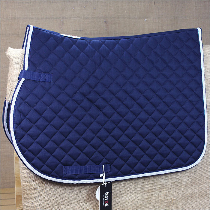 PONY HORZE SUPREME CHOOZE ALL PURPOSE HORSE QUILTED SADDLE PAD DARK blueE WHITE U