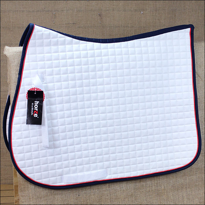 U-DB-F FULL HORZE RIVER ALL PURPOSE HORSE NYLON SADDLE PAD BILLETS STRAP WHITE B