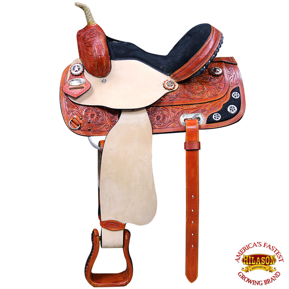CT17 17 Western Horse Saddle American Leather Treeless Trail Barrel By Hilaso