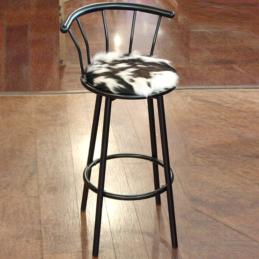 Sensational Details About U N100 Western Genuine Leather Cowhide Hair On Bar Stool Gmtry Best Dining Table And Chair Ideas Images Gmtryco
