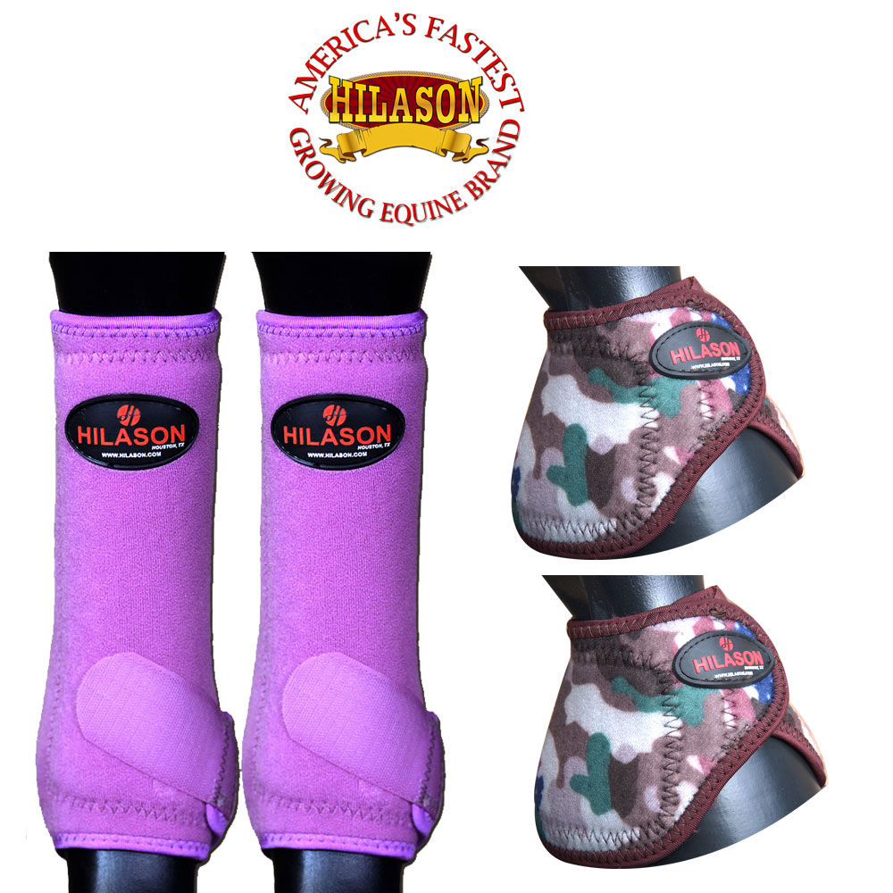 Purple Size Medium Centaur PVC No Turn Horse Bell Boots