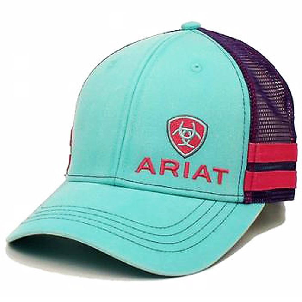 new arrival e5275 42e08 ... best ariat western womens mesh back adjustable snap turquoise baseball  cap b91e4 42ae4