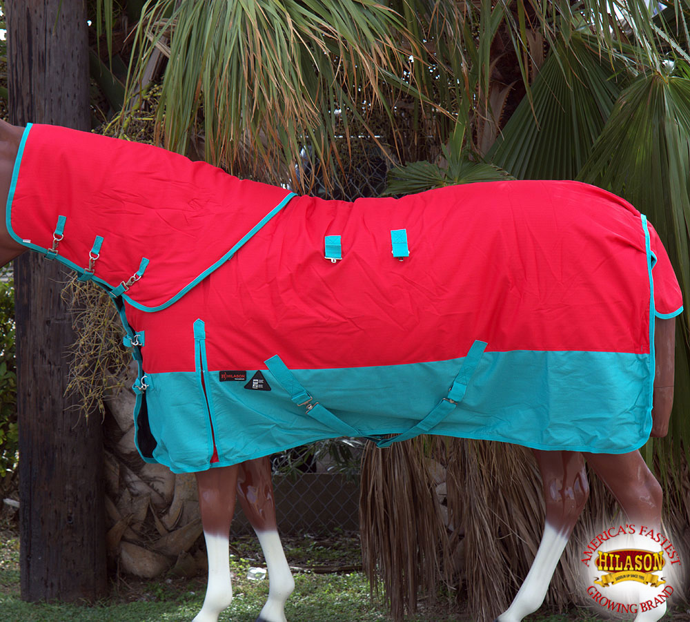 CD70 70 Hilason 1200D Waterproof Turnout cavallo Blanket Neck Cover rosso