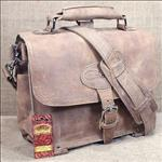 ST100NLF- GLANOR RUGGED BUFFALO LEATHER CONVERTIBLE HAND BACKPACK BAG