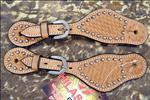 NEW HILASON WESTERN SPUR STRAPS LEATHER HAND TOOLED